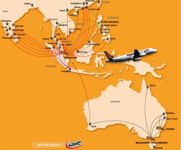 duong bay tiger air